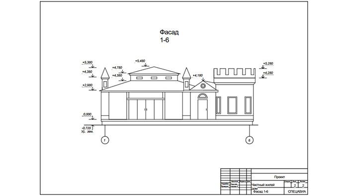 'эскиз фасада 3d дома